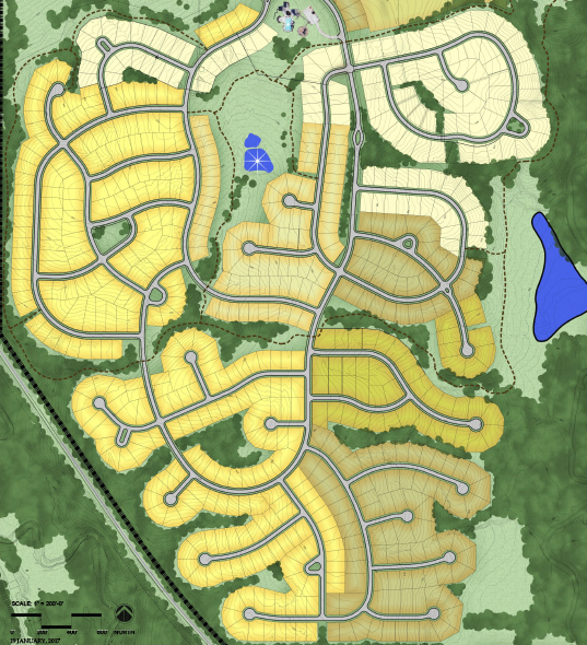 master plan of home sites and plots