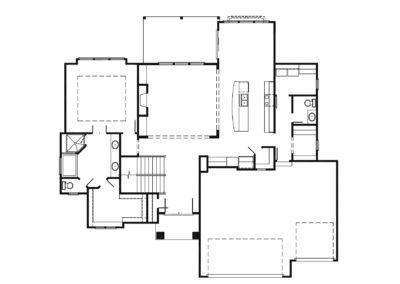 Jameson II Main level floorplan