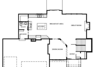 National III by Stewart Builders Main Level floorplan