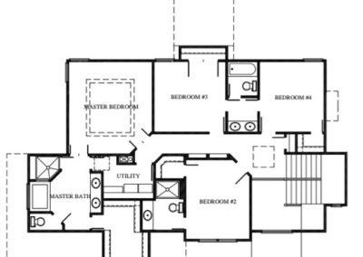 National III by Stewart Builders Upper Level Floorplan