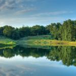 lake at woodland trails