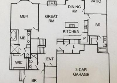 Ashley Ranch by Bryant Ratliff main level floorplan