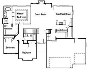 The Sierra by Steward Builders main level floorplan