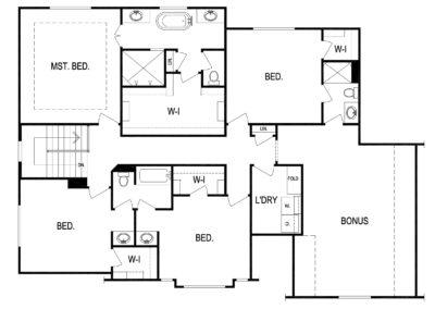 Wildwood by Kevin Higdon upper level floorplan