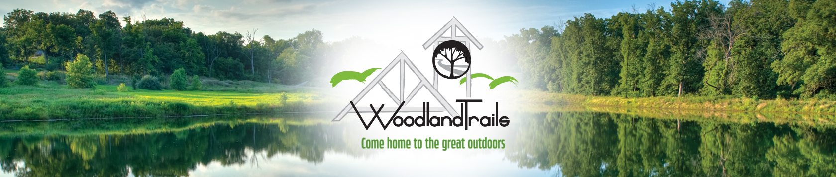 Woodland trails logo banner