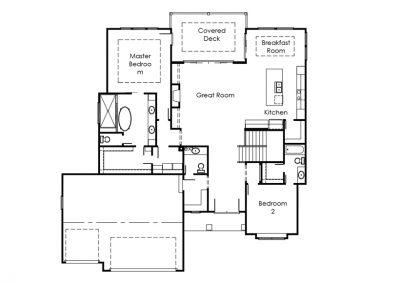 The Mackenzie III main floor floorplan