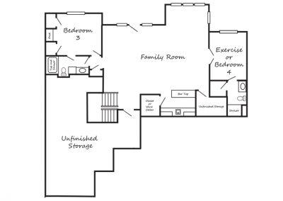 The Nichole II by Brant Ratliff lower level floorplan