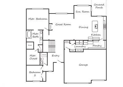 The Nichole II by Brant Ratliff Main Level floorplan